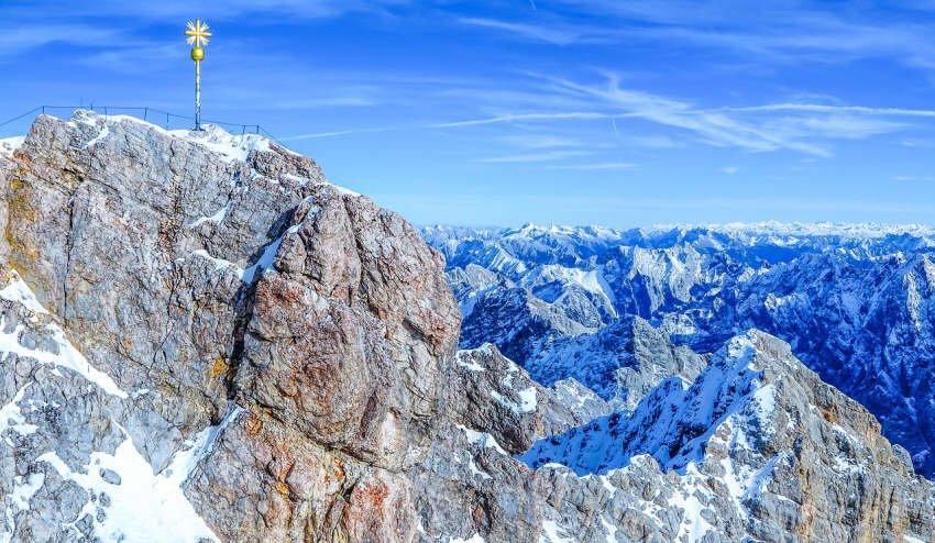 Greenpeace-Aktivisten protestieren an Zugspitze