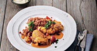 Fleisch und Geflügel - Huhn in Paprika-Rahm