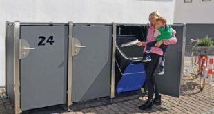 Mülltonnen praktisch und sicher aufbewahren