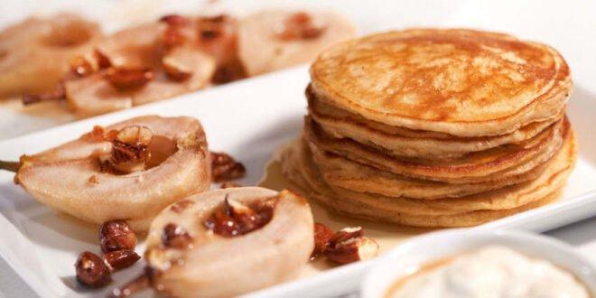 Rezepttipp - Joghurt-Pancakes mit Birnen